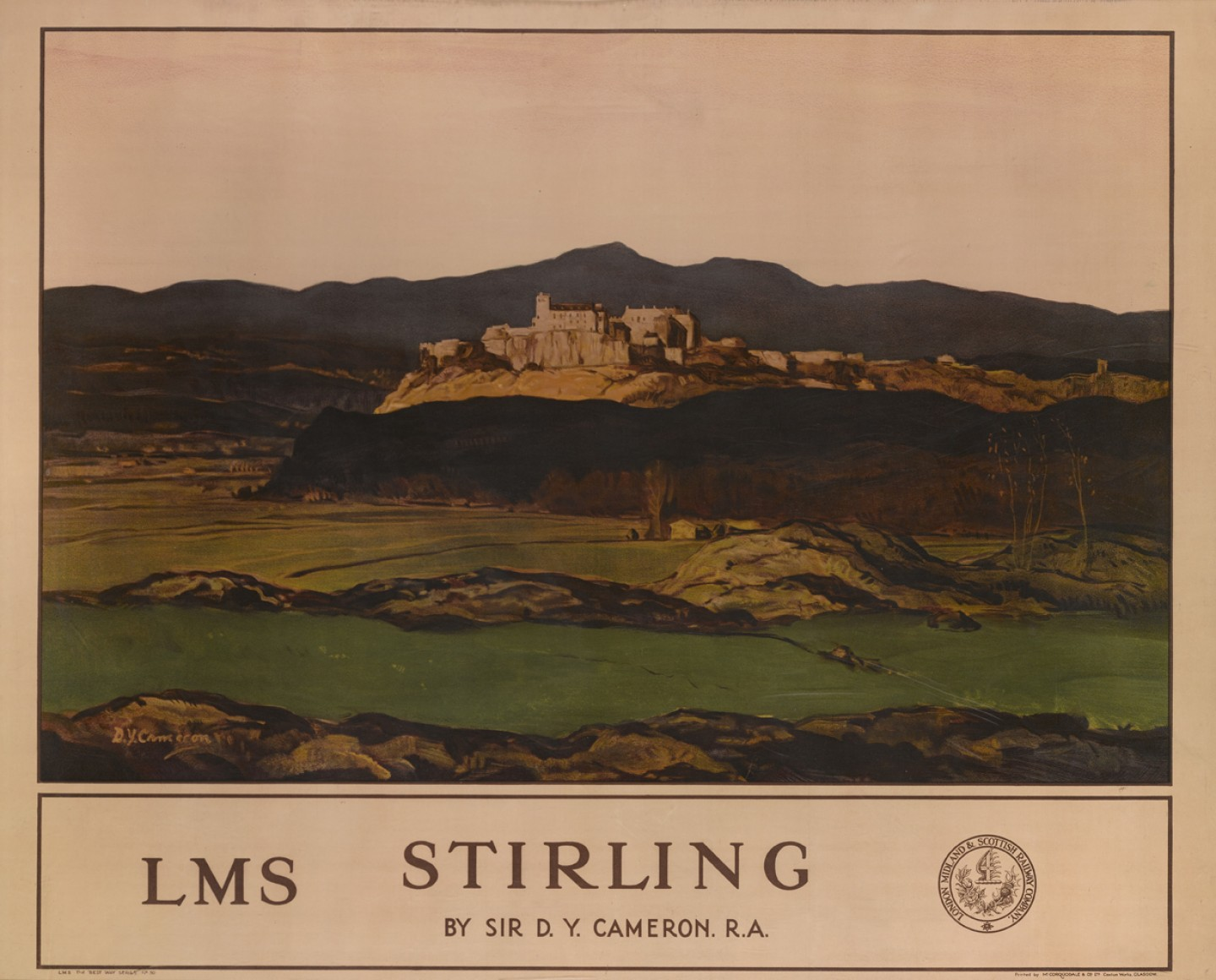 Railway Poster, LMS Stirling