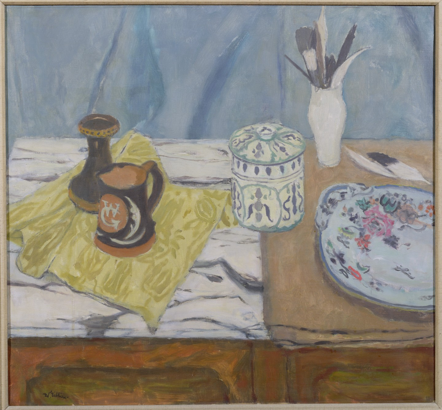 Still Life - Pots and Feathers