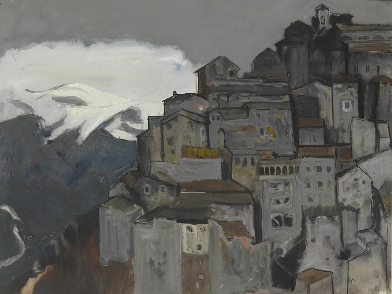 Anticoli Corrado with Mountain Snow