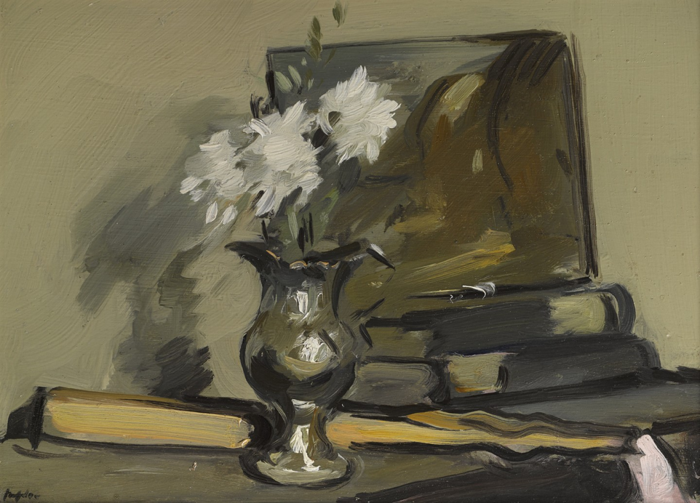 Flowers in a Silver Jug