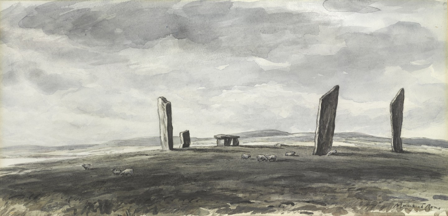 Standing Stones at Stennis, Orkney, Grey Weather