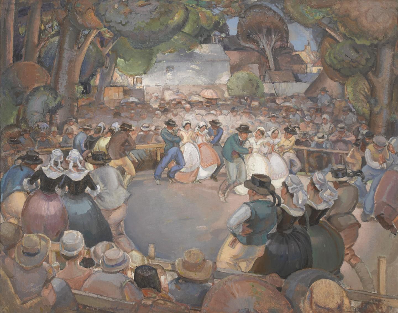 Breton Dancers, Concarneau
