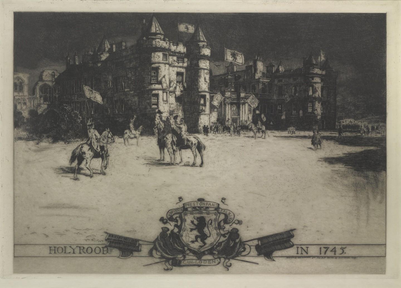 Holyrood Palace Etching