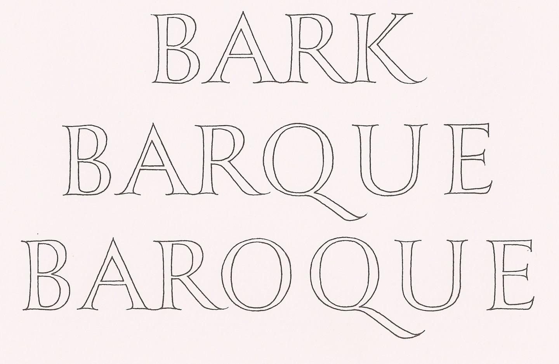 Bark Barque Baroque, with John R Nash