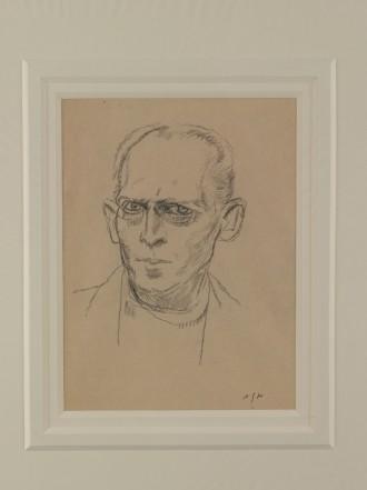 Self Portrait (pencil sketch), c. 1920
