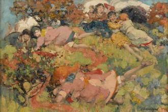 Children at Play, c. 1893