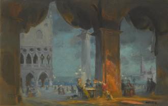 In the Piazetta, Venice, c.1908