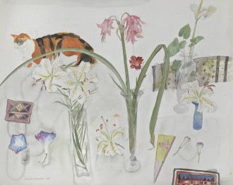 Cat and Flowers, 1981