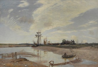 Awaiting the Tide, the Rother at Rye, c. 1885