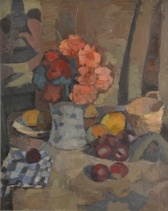 Flowers, Fruit and Checked Cloth, Unknown
