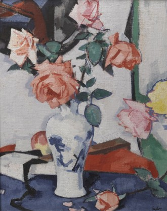 A Vase of Pink Roses, c.1925