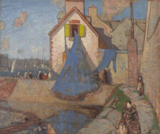 Drying the Nets, Concarneau, c. 1924