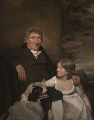 Portrait of James Morison of Naughton with his Grand-daughter, 1805