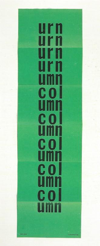 Urn (Garden Poem), 1986