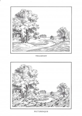 Palladian Picturesque. After Thomas Hearne, with Gary Hincks, 1977