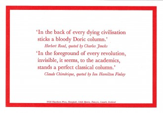 In the Back of Every Dying Civilisation Sticks a Bloody Doric Column
